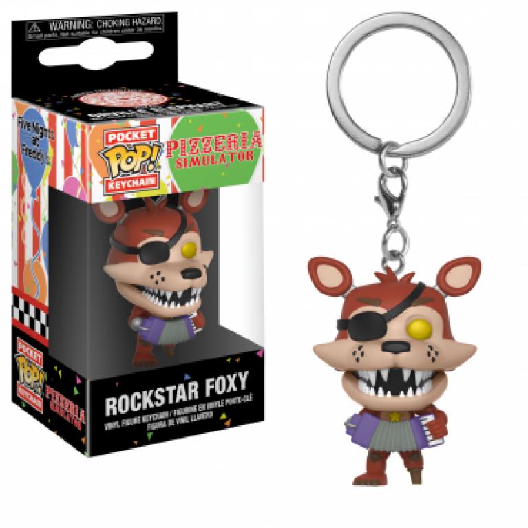 Брелок Фокси Рок Звезда Funko POP (Foxy Rock Star Keychain)