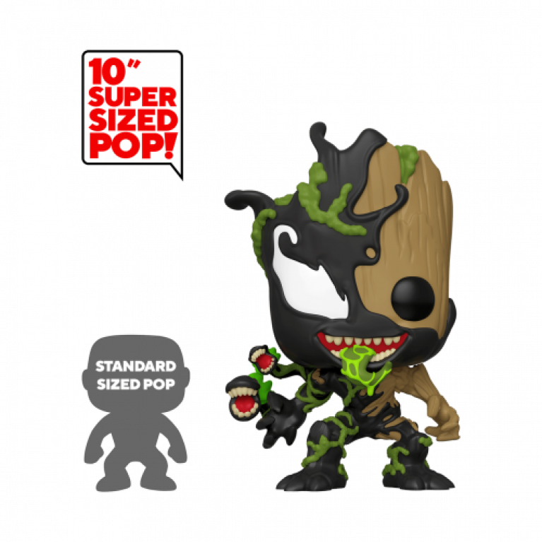 Веном/Грут 10 дюймов Funko POP (Venomized Baby Groot 10 inch) — Эксклюзив