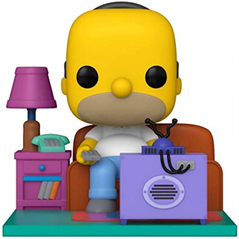 Гомер смотрит телевизор Funko POP Deluxe (Homer watching tv) - Предзаказ!