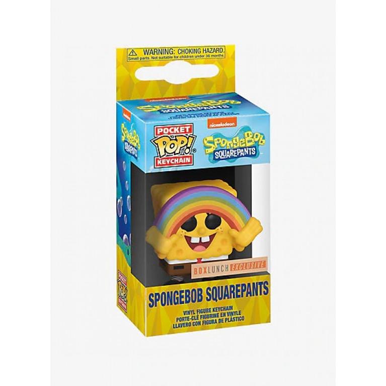 Губка Боб с радугой Брелок Funko (Sponge Bob with rainbow Keychain) — Эксклюзив