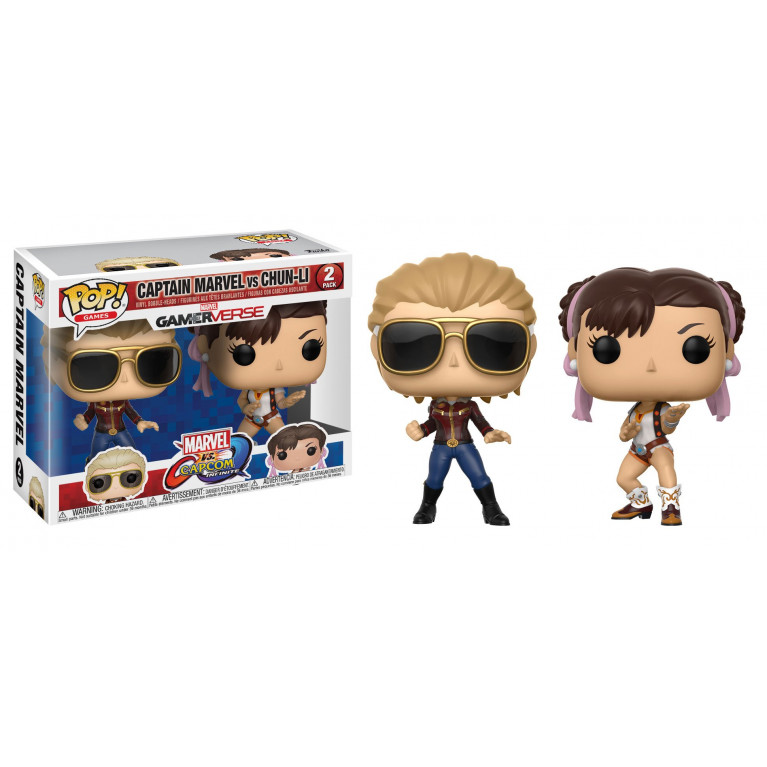 Капитан Марвел и Чунь Ли Funko 2-pack (Captain Marvel vs Chun-Li)