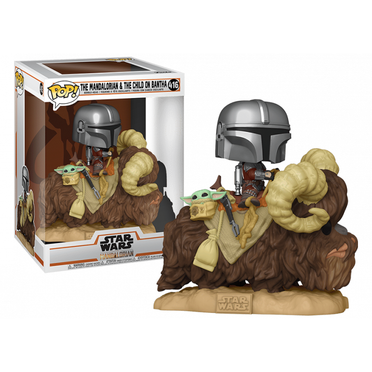 Мандалорец и дитя на Банте Funko POP (Mandalorian with Child on Bantha)