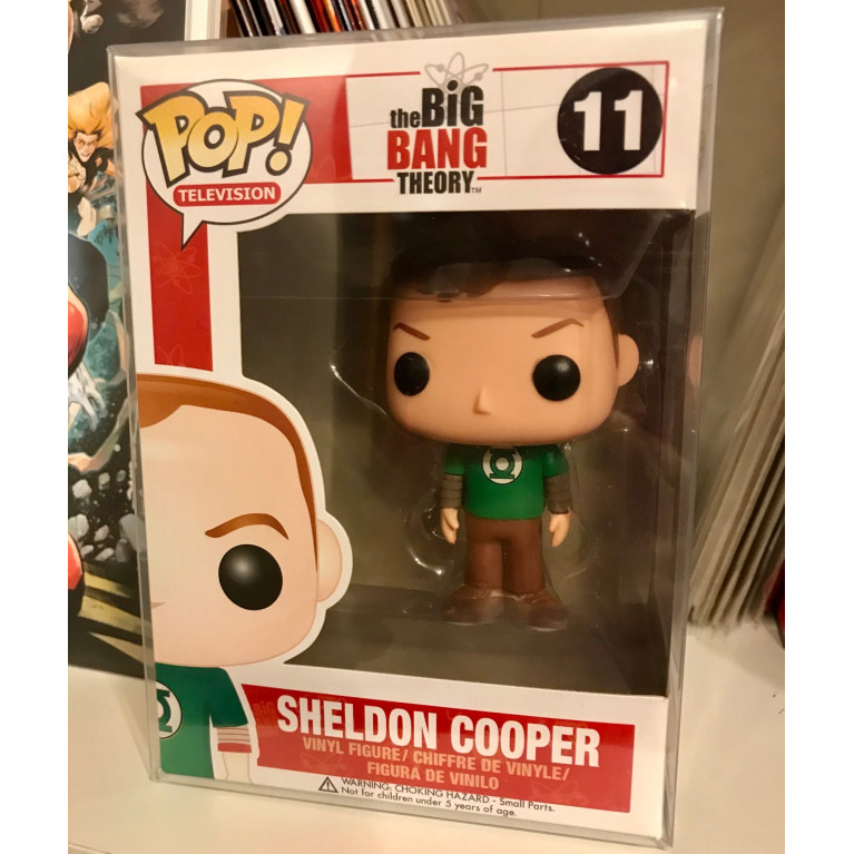 Шелдон Купер в футболке Зеленый фонарь Funko POP (Sheldon Cooper Green Lantern t-shirt) - Vaulted