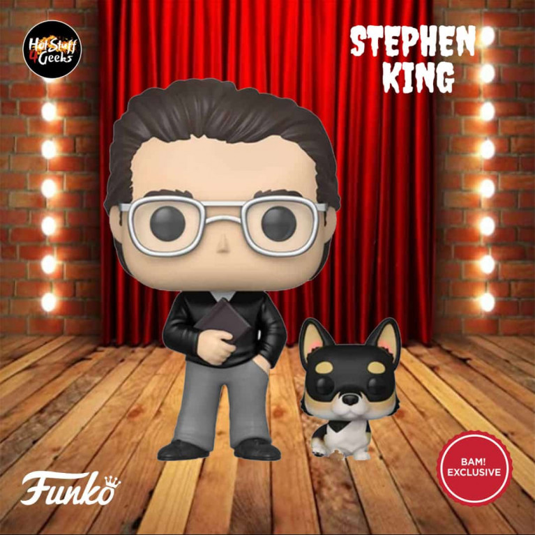 Стивен Кинг с корги Funko POP (Stephen King with korgi) - Эксклюзив