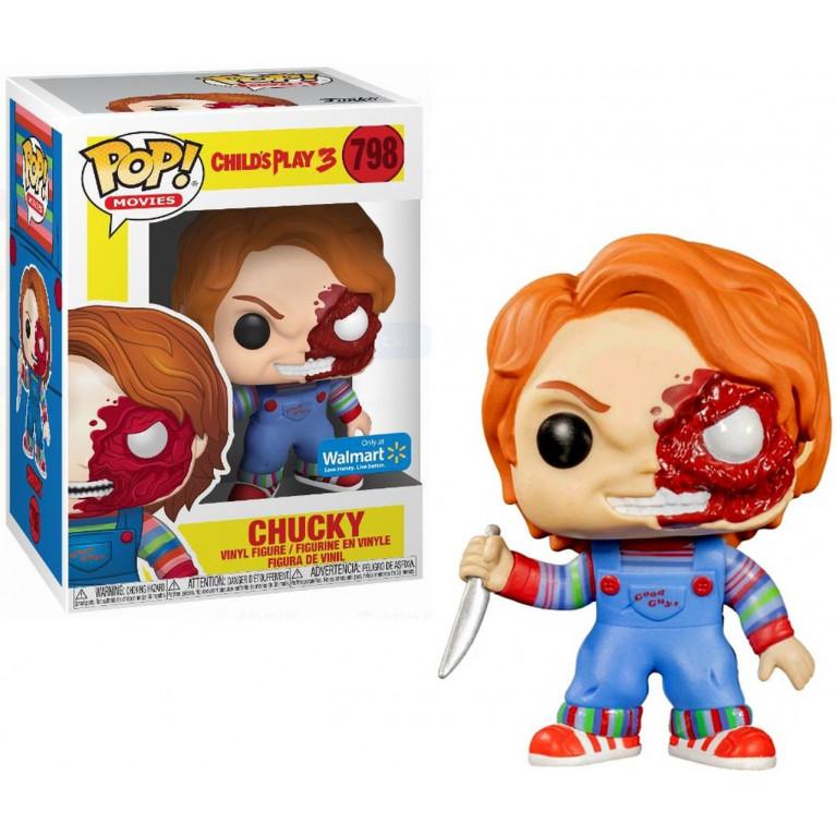 Чаки пол-лица Funko POP (Chucky half face) — Эксклюзив