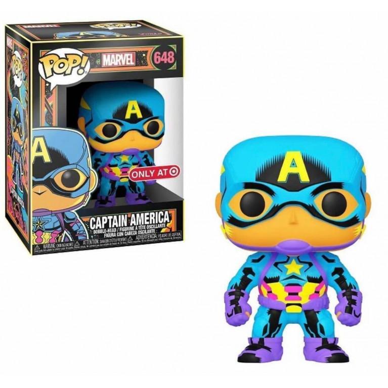 Капитан Америка Black Light Funko POP (Captain America Black Light) — Эксклюзив