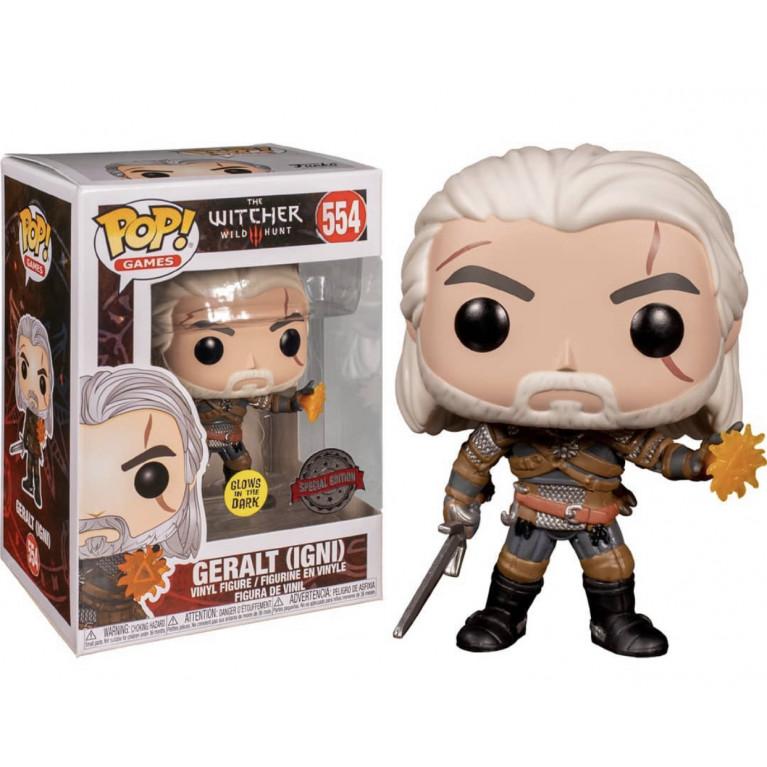 Геральт Игни Светящийся Funko POP (Geralt Igni GITD) — Эксклюзив