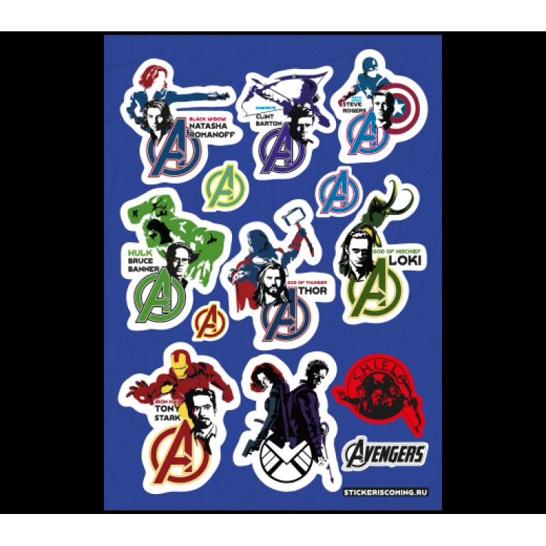 Набор стикеров «Мстители»