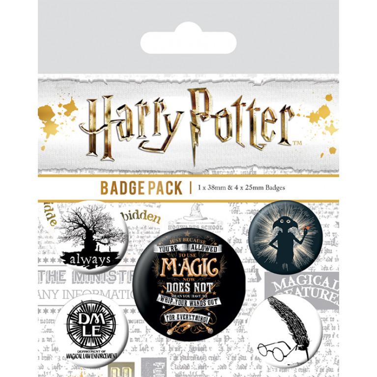 Набор значков «Гарри Поттер 3»