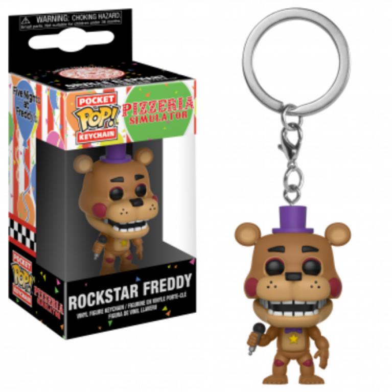 Брелок Фредди Рок Звезда Funko POP (Freddy Rock Star Keychain)
