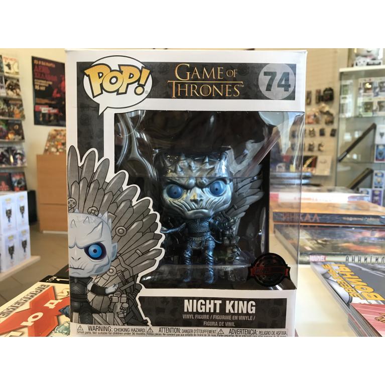 Король Ночи металлик на Железном Троне Funko POP (Night King Metallic on Iron Throne) — Эксклюзив