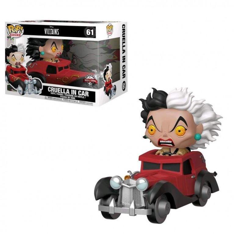 Круэлла на автомобиле Funko POP (Cruella in a car) — Эксклюзив