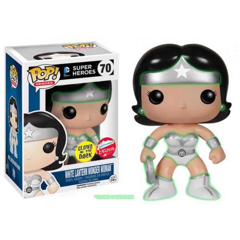 Чудо-Женщина Белый Фонарь Funko POP (Wonder Woman White Lantern GITD) — Эксклюзив
