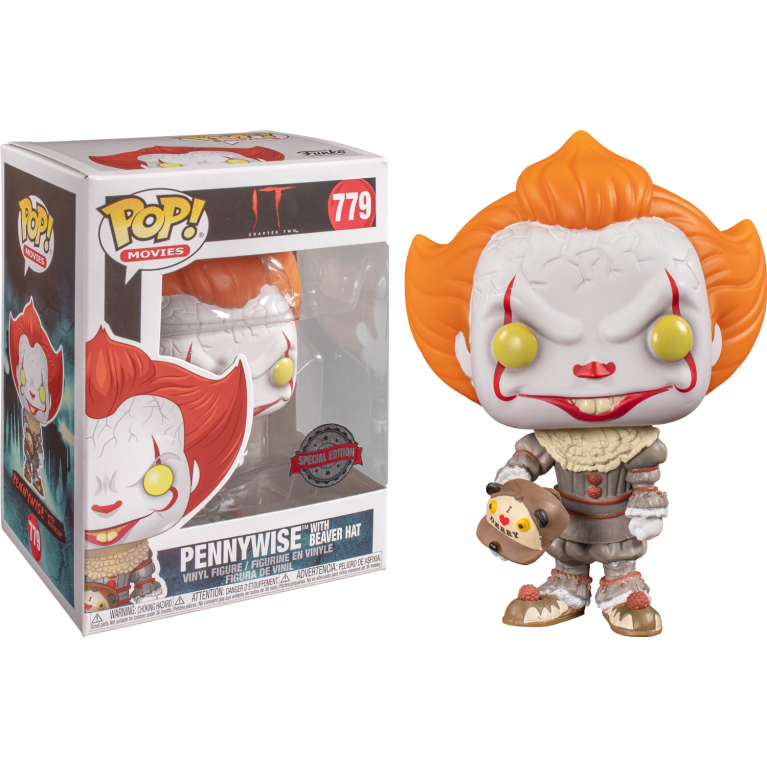 Пеннивайз с бейсболкой Funko POP (Pennywise with beaver hat) — Эксклюзив