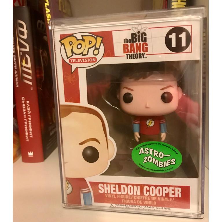 Шелдон Купер в футболке Флэш Funko POP (Sheldon Cooper Flash t-shirt) - Очень редкий Эксклюзив!