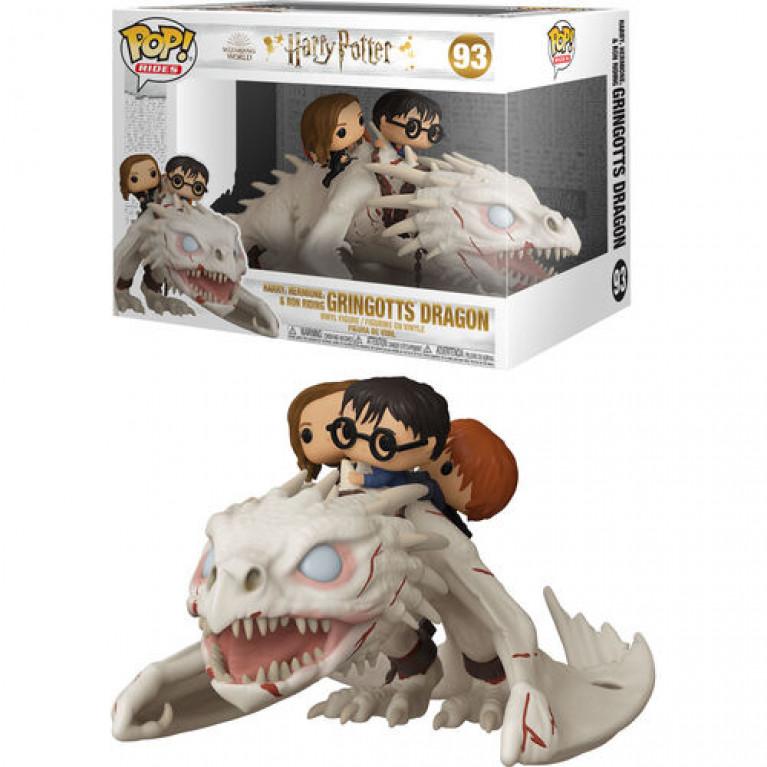 Гарри, Рон, Гермиона на драконе Funko POP (Harry,Ron, Hermione on Gringotts Dragon)